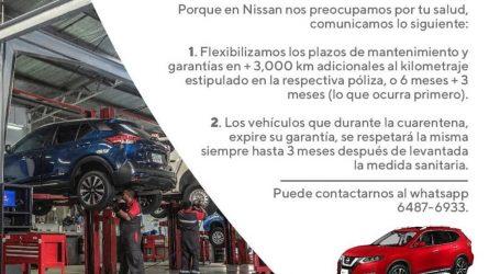 NISSAN FLEXIBILIZA PLAZOS DE MANTENIMIENTO Y FECHA DE EXPIRACIÓN DE GARANTíA